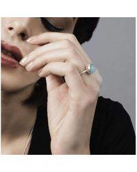 Muscari Jewellery - Half Blue Moon Ring - Lyst
