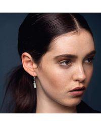 Edge Only - Multicolor Diamond Cut Cylinder Drop Earrings - Lyst