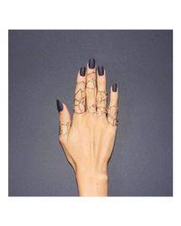 JESSIE V E - Multicolor Rose Gold Taurus Star Sign Constellation Ring - Lyst