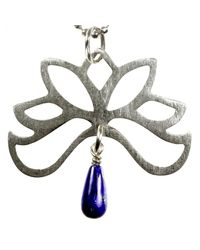 Sima Vaziry - Metallic Half Bloom Lapis Necklace - Lyst