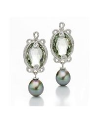 Brigitte Adolph Jewellery Design - Multicolor Undine White Gold Earrings With Tahitian Pearls - Lyst