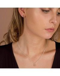 ANUKA | Metallic Mani Silver Half Faceted Charm Necklace | Lyst