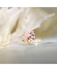 Oh my Christine Jewelry - Metallic Heart Shape Morganite Ring - Lyst