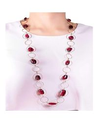 M's Gems by Mamta Valrani - Multicolor Harmony Geometric Necklace With Cubic Zirconia - Lyst
