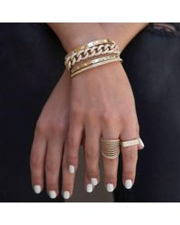 Anne Sisteron - Metallic Diana Latch Bracelet Yellow Gold - Lyst
