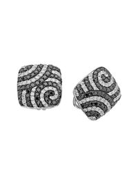 Pinomanna - Multicolor White Gold & Diamond Optical Collection Stud Earrings | - Lyst