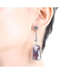 M's Gems by Mamta Valrani - Multicolor Purple Rain Earrings With Diamonds And Ruby - Lyst