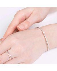 Verifine London   Pink Diamond Line Bracelet In 18ct White Gold   Lyst