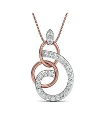 Diamoire Jewels - Metallic Hand-carved 10kt Rose Gold Pave Diamond Pendant - Lyst
