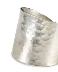 Jigsaw - Metallic Made Hammered Wide Ring - Lyst