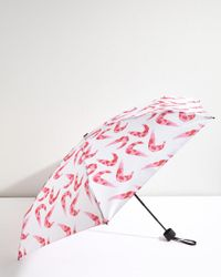 Jigsaw - Pink Rosy Shrimp Print Umbrella - Lyst