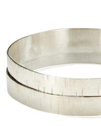 Jigsaw - Metallic Made Hammered Layered Cuff - Lyst