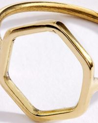Jigsaw - Metallic Made Hexagon Ring - Lyst