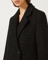 Jigsaw - Black Tweed Maxi Coat for Men - Lyst