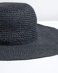 Jigsaw - Blue Open Weave Floppy Hat - Lyst