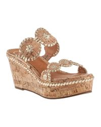 Jack Rogers | Leigh Wedge Sandal Natural Cork | Lyst