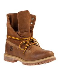 Timberland | Natural Authentics Roll-top Boots Wheat Leather | Lyst