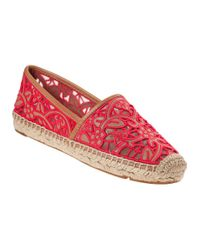 Tory Burch | Lucia Flat Espadrille Natural Leather | Lyst