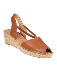 Andre Assous | Brown Dainty Wedge Espadrille Tan Leather | Lyst