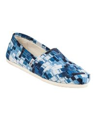TOMS | Blue Classic Slip-on Ink Canvas | Lyst