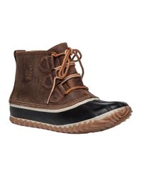 Sorel   Brown Out N About Tan Leather Boot   Lyst