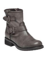 Steve Madden | Gray Damiannn Grey Leather Boot | Lyst