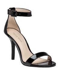 Pelle Moda   Kacey Black Patent Leather Sandal   Lyst