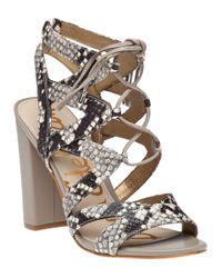 Sam Edelman   Yardley Ghillie Sandal Natural Snake   Lyst