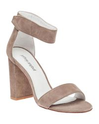 Jeffrey Campbell | Brown Lindsay Taupe Suede Sandal | Lyst