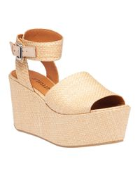 10 Crosby Derek Lam | Natural Faye Tan Wood Raffia Sandal | Lyst