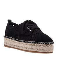 J/Slides - Rileyy Black Suede Lace Up Espadrille - Lyst