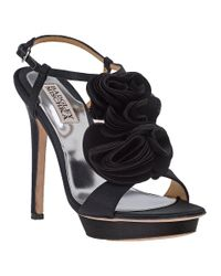 Badgley Mischka - Randee Evening Sandal Black Satin - Lyst
