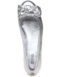 MICHAEL Michael Kors - Metallic Willa Ballet Silver - Lyst