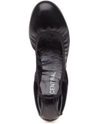 275 Central - Sydnee L073 Black Leather Flat - Lyst