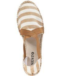 Sesto Meucci - Natural 9334 Flat Espadrille Camel Fabric - Lyst