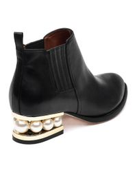 Jeffrey Campbell | Black Metcalf Embellished Leather Ankle Boots  | Lyst