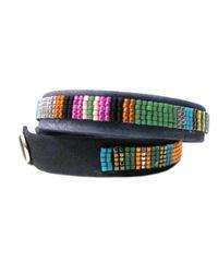 Jill Golden   Multicolor Striped Leather Wrap   Lyst