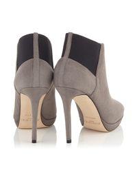 Jimmy Choo - Gray Talula 100 Boots - Lyst