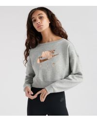 3a5e024d0eddd Lyst - Nike Air Rally Crew Sweatshirt in Gray