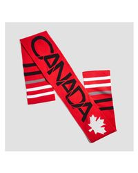 Joe Fresh - Red Canada Print Scarf - Lyst