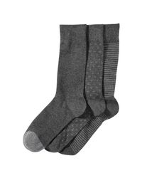 Joe Fresh - Gray Men's 3 Pack Casual Socks for Men - Lyst