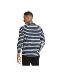 Joe Fresh - Blue Men's Stripe Henley Tee for Men - Lyst