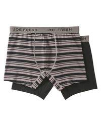 Joe Fresh - Gray Men's 2 Pack Print Boxer Briefs for Men - Lyst