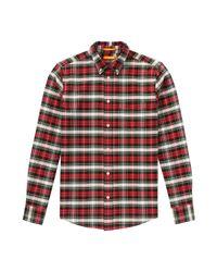 Joe Fresh - Red Men's Plaid Oxford Shirt for Men - Lyst