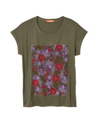 Joe Fresh - Green Print Applique Tee - Lyst