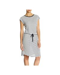 Joe Fresh - White Stripe Drawstring Dress - Lyst