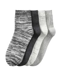 Joe Fresh | Gray 4 Pack Stripe Crew Socks for Men | Lyst