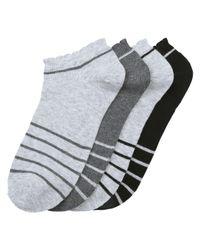 Joe Fresh - Gray 4 Pack Stripe Casual Socks for Men - Lyst
