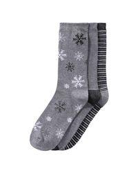 Joe Fresh - Gray 3 Pack Print Socks for Men - Lyst