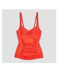 Joe Fresh - Orange Twist Tankini Top - Lyst